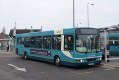 AMN 3722 @ Cannock bus station (ianjpoole) Tags: arriva midlands vdl sb200 wright commander fj06zth 3722 the songstress staffordshire working sapphire route 1 dogintree estate huntington hatherton place walsall