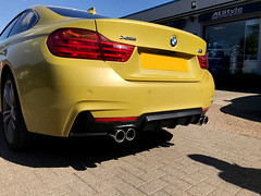 BMW 4 Series Quad Exhaust Conversion (MStyle UK) Tags: bmw repairs servicing exhaust conversion carparts tuning performance automotive mstyle romford essex london bmwgarage
