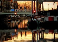 Street Bridge (Clare-White) Tags: light amsterdam canal reflections outside bridge