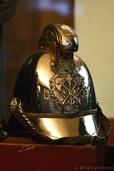 Fire Brigade Helmet (Bri_J) Tags: nationalemergencyservicesmuseum oldpolicefirestation westbar sheffield southyorkshire uk museum yorkshire nikon d7500 firebrigade helmet metal brass