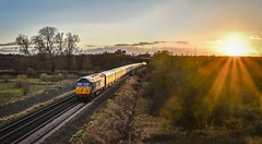 57002 at Curdworth (robmcrorie) Tags: 57002 direct rail services class 57 curd worth hams hall water orton warwickshire nikon d850 sunset pentameter newport burton wetmore curdworth pengam