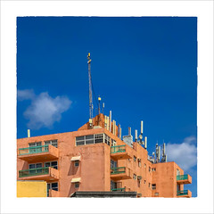 Well Connected (Timothy Valentine) Tags: 2018 0418 building antennae balcony sky fbpost vacation hrsw bridgetown christchurch barbados bb