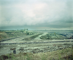 the big pit (pan_hrabia) Tags: lignite mine surface mining destroyed landscape mamiya rb67 sekor 65mm 6x7 film expired portra 160vc scan