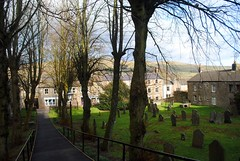St Margaret's Church yard (zawtowers) Tags: hawes north yorkshire upper wensleydale dales england countryside rural market town famous cheese saturday 16th february 2019 dry sunny bright st margarets church parish place worship hill raised cemetery view graves final resting