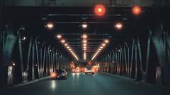 Lake Street Viaduct (Jovan Jimenez) Tags: canon eos rebel t2 ef 50mm stm cinestill 800t kodak vision3 tungsten film lake street viaduct lines night grain red car lights