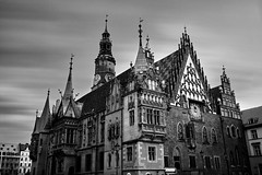 Wroclaw VI (another perspective) (Petr Horak) Tags: wroclaw europe city historic bw monochrome longexposure poland