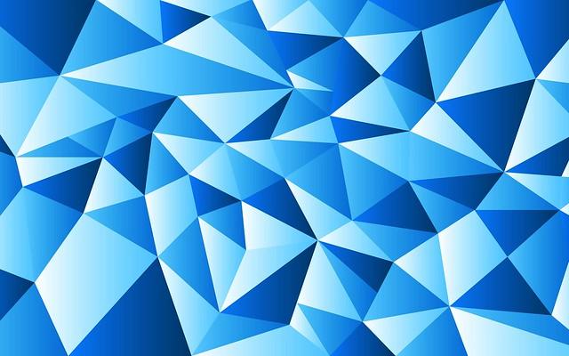 Обои треугольники, абстракция, синий картинки на рабочий стол, фото скачать бесплатно