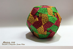 Módulo 108° (Jaime Niño Bernal) Tags: origami modular dodecaedro sólido sólidoplatonico poliedroregular