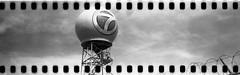7 ball corner sprocket (No Stone Unturned Photography) Tags: black white monochrome kodak folding expired ilford delta 100 35mm film sprocket holes jiffy camera art deco 1933 six16 616 panoramic 7 crow
