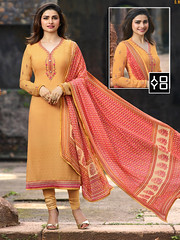 Yellow Embroidered #StraightSuit #YOYOFashion Online Shopping. (yoyo_fashion) Tags: fashion style wedding shopping designer outfitoftheday stylist shoppingonline indianwedding womenfashion ethnic indianfashion offer indianwear ethnicwear designerwear