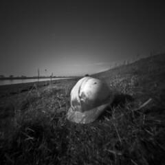 2234 Hard Hat. (Monobod 1) Tags: ondu pinhole 6x6 fuji acros rodinal epsonv800 lensless 120 blackwhite