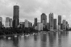 brisbane b&w (Greg Rohan) Tags: clouds sky brisbaneriver river water boats boat bw blackwhite blackandwhite buildings building architecture skyscrapers skyscraper skyline cityscape city brisbanecity australia queensland brisbane d750 2018 nikon nikkor