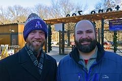 Two Beards at the Zoo (AntyDiluvian) Tags: boston massachusetts stoneham zoo stonezoo belowfreezing december beard beards tim charlie