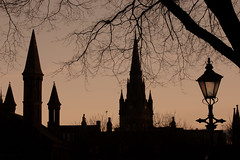 Aberdeen Skyline (PeskyMesky) Tags: aberdeen unionterrace skyline sunrise sunset silhouette city scotland tree spire church canon canon5d eos