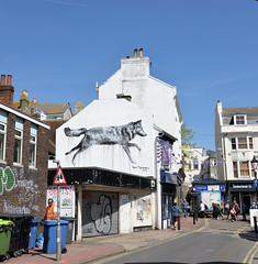 ALL CITY MOVEMENT, street art installation, 2018, Brighton, UK