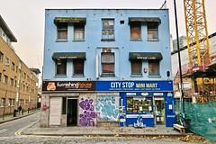 City Stop Mini Mart, London, UK (Robby Virus) Tags: london england uk unitedkingdom greatbritain gb english british city shop stop mini mart home furnishings furnishing house sign signage store dream land indian cuisine