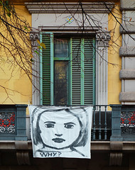 Why? (chrisk8800) Tags: balcony shutters architecture reflections poster barcelona why