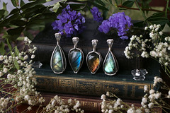 Labradorite (Sedna 90377) Tags: labradorite gemstones gems crystals jewelry pendants wire wrap sterling silver 925 handmade