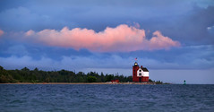 Round Island Light (Kevin Rodde Photography) Tags: roundisland lighthouse lakehuron water clouds michigan upperpeninsula canon eos6d 6d sigma 150600mm kevinroddephotography kevinrodde rodde