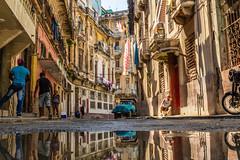 Streets of Havana with reflection. (dwb838) Tags: reflection havana street