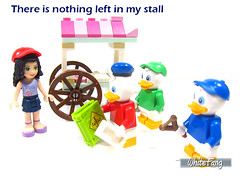 There is nothing left in my stall (WhiteFang (Eurobricks)) Tags: lego minifigures cmfs collectable walt disney mickey characters licensed design personality animated animation movies blockbuster cartoon fiction story fairytale series magic magical theme park medieval stories soundtrack vault franchise review ancient god mythical town city costume space