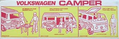 Volkswagen Camper by Empire Toys Box Illustrations (hmdavid) Tags: vintage volkswagen camper 1970s toy dolls empire hippie vw bus flowerpower doll