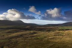 Ribblehead_02 (julesh1966@googlemail.com) Tags: ribbleheadviaduct northyorkshire yorkshiredales sunrise clouds railway landscape grassland ingleborough colour autumn ariel drone