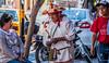 2018 - Mexico - Oaxaca - Street Sales (Ted's photos - Returns late Feb) Tags: 2018 cropped mexico nikon nikond750 nikonfx oaxaca tedmcgrath tedsphotos tedsphotosmexico vignetting bokeh trio three people streetscene street ballcap sweater earring hat old oldman artisan beads denim denimjeans female boy male man