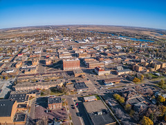 Huron is a small Town and Agricultural Center in East Central South Dakota (JacobBoomsma) Tags: huron south dakota fall autumn farming agricultural downtown skyline aerial urban drone plane central
