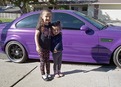 Grand kids with Papa's M3 (Timothy Lewis Jr.) Tags: colorfilm colorprintfilm canonnfd50mmf14 car canona1 analoguefilm
