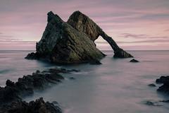Bow Fiddle Rock (PeskyMesky) Tags: aberdeenshire scotland bowfiddlerock portknockie longexposure landscape water sea ocean rock canon canon5d eos
