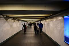 (xtaros) Tags: newyork subway 42ndstreet nyc xtaros noflash hallway passageway passage white blue streetphotography street streetshots candid candidshot offthehip