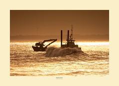 Gypsey Race Dredger (Myrialejean) Tags: gypseyrace boat dredger bridlington yorkshire coast sea storm evening winter hyundai sunset eastriding eastcoast