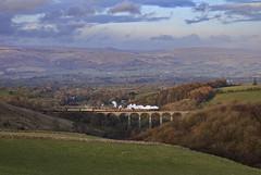 The viaduct and the Pennines (EltonRoad) Tags: 48151 8f steam train railway line smardale viaduct kirkbystephen settle carlisle sc pennines thunderer westcoast cumbria