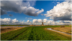 Broekmolen (Rob Schop) Tags: dutch landschap color clouds wideangle broekmolen windmill samyang12mmf20 sonya6000 pola hoyaprofilters zuidholland f8