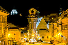 I love, You love, This love... (OndrewDry) Tags: winter snow cold cityoflove citysquare lovelyplace night lights statue castle oldtown architecture banskastiavnica slovakia square sony a6000 sigma art longexplosure cityscape