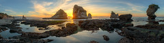 Breathe Deep and Imagine (OJeffrey Photography) Tags: motukiekiebeach tasmansea sunset panorama pano southisland newzealand ocean beach rocks coast sea reflection westcoast ojeffreyphotography ojeffrey jeffowens nikon d850