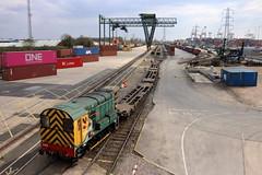 08585 'Vicky' Southampton Maritime (cmc_1987) Tags: 08585 vicky southamptonmaritime flt class08 gronk br britishrail wagons terminal railfreight geneseewyoming powerhaul 350hp