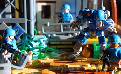 Keeping The Piece 2 (L.K Designs) Tags: lego legospace legomech mech legorobot robot scifi legomoc