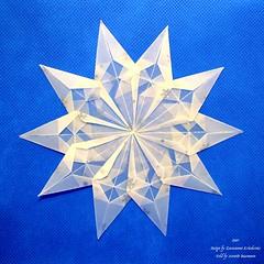 Star (Zsuzsanna Kricskovics) 4 (AnkaAlex) Tags: origami origamistar modularorigami paperfolding whitestar translucentpaper