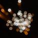 Feuerwerk zu Neujahr, mit Bokeh aufgenommen in Bloemendaal, Niederlande
