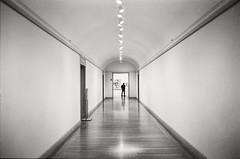 Boston MFA 2003-01 (frntprchprss) Tags: boston mfa musuem person gallery hall lights empty jamesgehrt blackandwhite