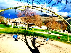 Lions Park (susannah.cragwick) Tags: shadows swings playground missoula