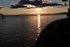 Sunset on the lake Trasimeno (Luigi_R.) Tags: italy umbria trasimeno lake sunset
