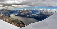 corollario (art & mountains) Tags: alpi alps cime creste cornici skialp snowshoes hiking lago nevicata respiro spazio natura silenzio contemplazione windchill vision dream spirit morfologia