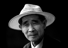 Chinese Man With A Hat, Jianshui, Yunnan Province, China (Eric Lafforgue) Tags: a6191 adultsonly asia blackandwhite china frontview hat horizontal lookingatcamera man menonly onepeople oneperson realpeople senioradult yunnan yunnanprovince jianshui