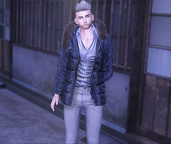 Chilly Chic (EnviouSLAY) Tags: blue puffercoat puffer coat jacket gray jeans denim grayhair hair newreleases new releases broberry deadwool blueberry ascend doux letre belleza bento lelutka jake tmd themensdepartment the mens department mensmonthly mensfashion mensfair mensevent monthlymen monthlyfashion monthlyfair monthlyevent monthly men fashion fair event pale male gay blogger secondlife second life photography lgbt
