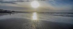 Hoylake Sunset (jimmedia) Tags: hoylake wirral sea beach coastal mersey sand coastline winter sunset cloud wales island hilbre