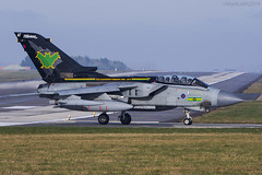 Royal Air Force, Tornado GR4, ZG775 / AF. (M. Leith Photography) Tags: royal air force tornado gr4 raf aviation jet panavia sunshine mark leith photography nikkor nikon airplane aircraft sky cockpit grass building marham norfolk england sunny sun wheel zg775 9 squadron special