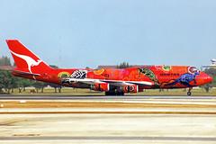 "Qantas Boeing 747-438 VH-OJB ""Wunala Dreaming"" (gooneybird29) Tags: flugzeug flughafen aircraft airport airplane airline bkk donmuang boeing 747 jumbo qantas vhojb wunaladreaming"